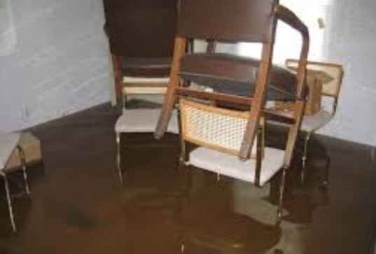 a flooded home